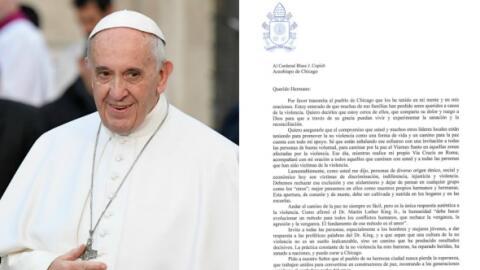 Papa Francisco manda una carta a las víctimas de la violencia en Chicago