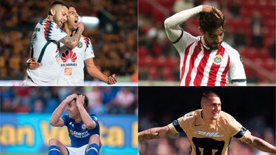 La cara de los cuatro grandes de México con miras a estas dos fechas en el Clausura 2018