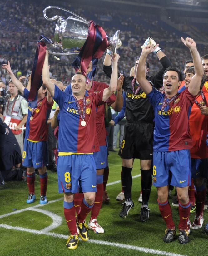 En la final de Roma, ante el Mancheste United, Andrés Iniesta jugó 92 mi...