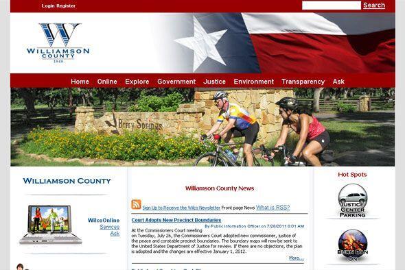 3. WILLIAMSON COUNTY, TEXAS- Y ocupando el tercer puesto en este ranking...