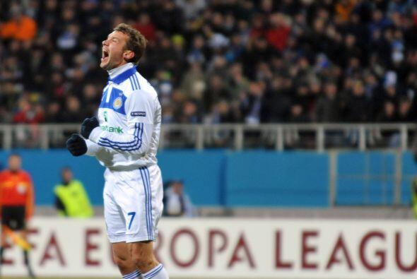 Los ucranianos contaron en el ataque con el otrora gran goleador Andrei...