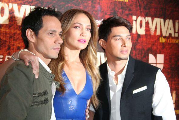 "El trabajo volvió a unir a Marc y Jennifer, para el reaity ""Q'Viva, The..."