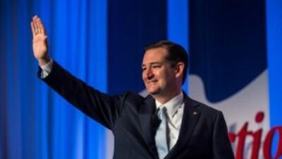 El senador Ted Cruz, posible candidato a las Presidenciales de 2016, ren...