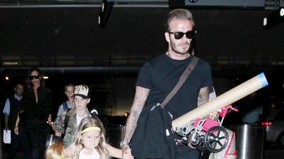 Harper es la princesa favorita de papi Beckham