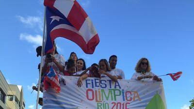 Así celebró Puerto Rico a sus atletas con una caravana olímpica