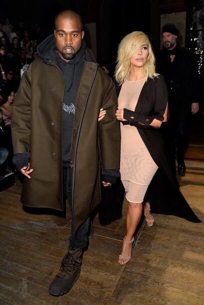 A su lado estuvo todo el tiempo su maridito, Kanye West.