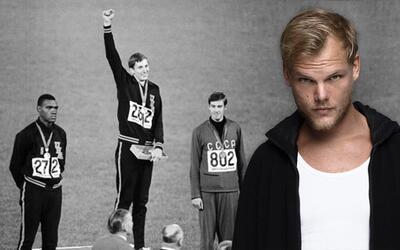 El DJ sueco homenajeó al deportista estadounidense.