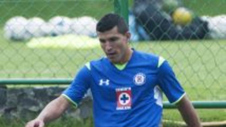 Francisco Javier Rodríguez durante el entrenamiento de Cruz Azul.