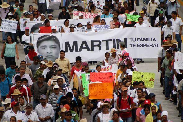 En la marcha de Guerrero también participaron familiares de los estudian...