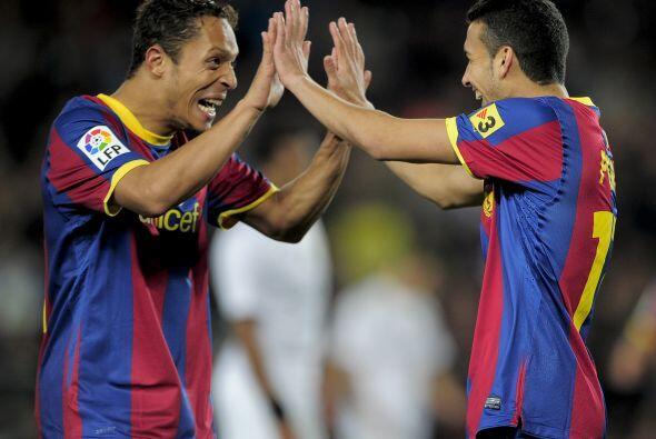 Pedro Rodríguez y Bojan aumentaron la ventaja en una goleada imponente.