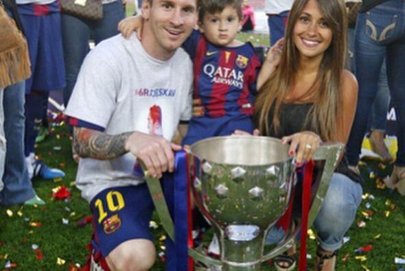 Messi y familia disfrutando de este momento.