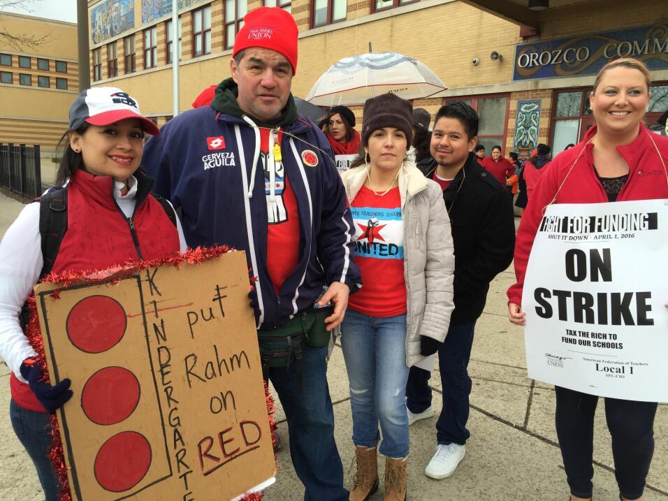 Paro laboral de maestros en Chicago
