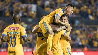 En fotos: Tigres derrotó 2-0 a Santos en el juego de ida de cuartos de final en Liguilla