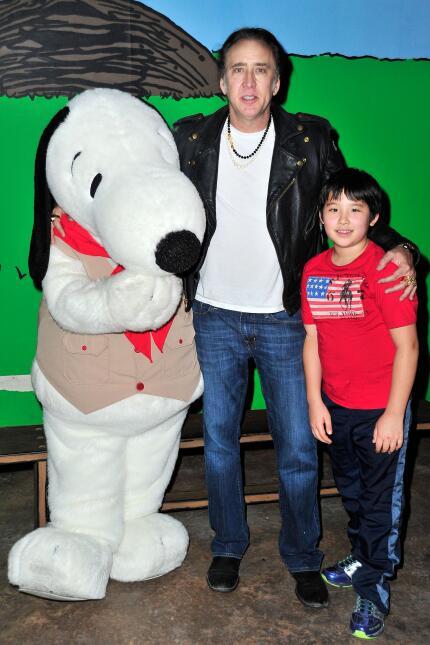 Nicholas Cage y su hijo Kal -El