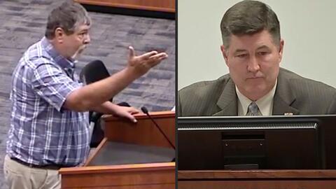 Greg Barrett denunció que el superintendente del distrito escolar...