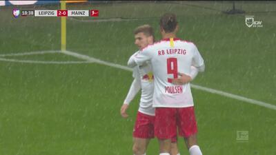 ¡Doblete para el Leipzig, doblete para Poulsen!