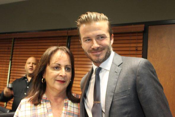 Beckham con Lourdes D´Kendall, personalidad, Radio Mambí 710 AM