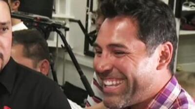 Oscar de la Hoya reapareció