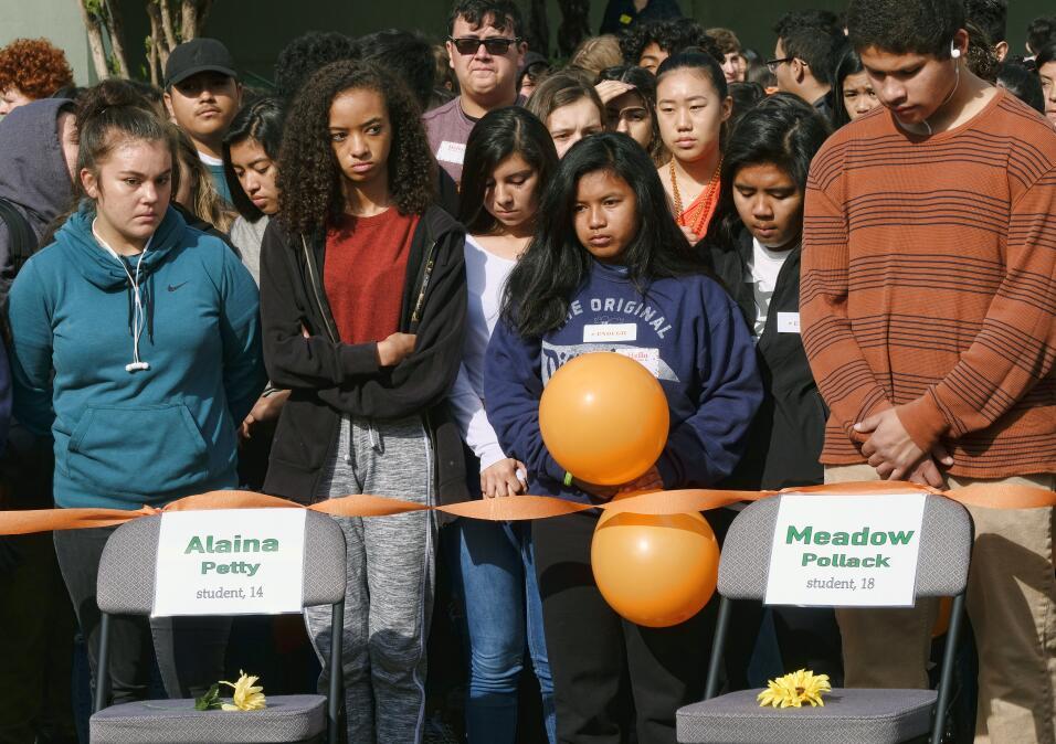 Los Ángeles, California. Los estudiantes de la secundaria Eagle R...