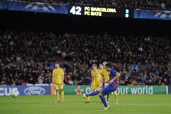 El delantero siguió buscando y alcanzó el cuarto del Barcelona.