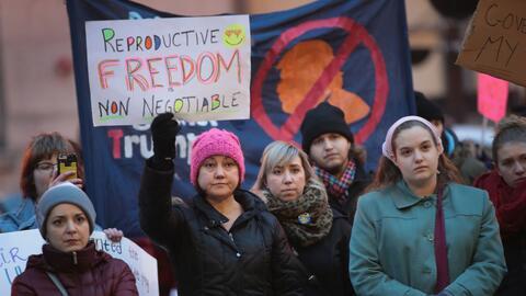 """""""La libertad reproductiva no es negociable"""", es el mensaje de..."""