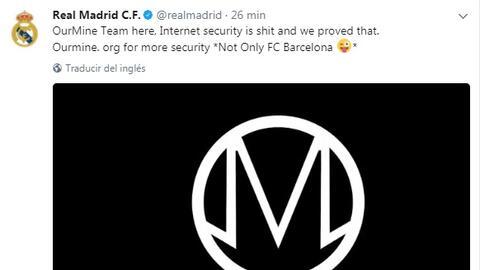 Hackean las redes sociales del Real Madrid.