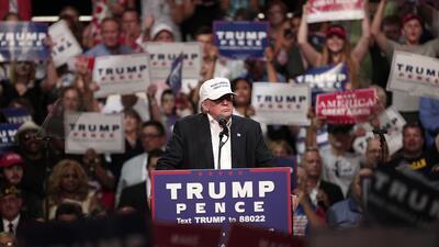 Trump tiene el apoyo del 2% de los votantes negros, según un sondeo del...