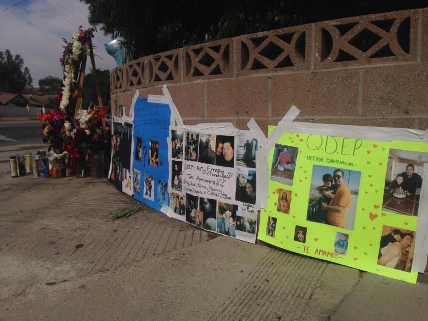 Dos hermanos atropellados fueron recordados en el barrio angelino de Cha...