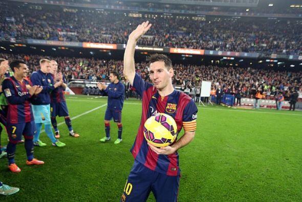 El 22 de noviembre del 2014, Messi le marcó un 'hat-trick' al Sevilla en...