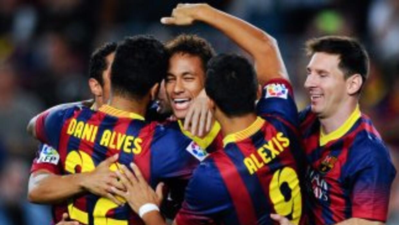 Neymar marcó su primer gol en Liga española y concretó un partido brilla...
