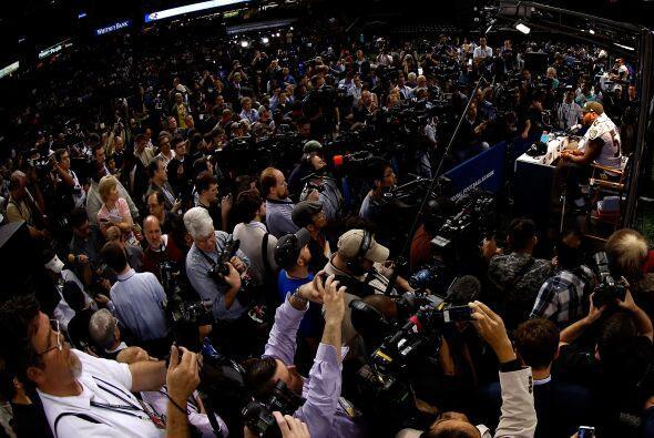 Es impresionante la cantidad de medios de comunicación que llegan a este...