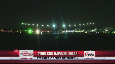 Avión solar aterrizó en Phoenix
