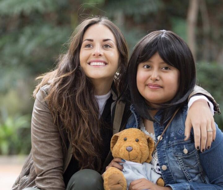 Zuria Vega cumplió el sueño de una niña con c&aacut...