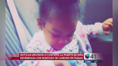 Confirman muerte de niña envenenada con monóxido de carbono