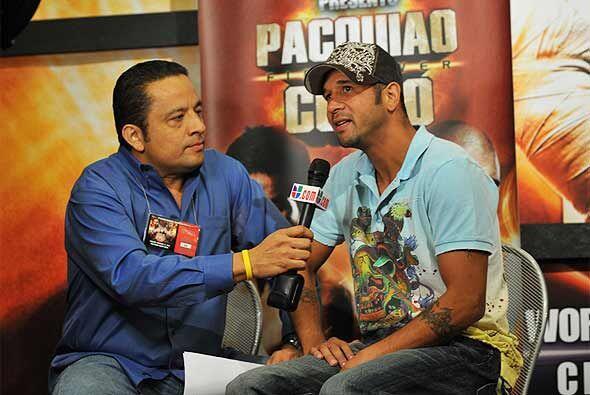 El boricua, que tiene récord de 32-3-1 y 23 KOs, conversó con Rafa 'El A...