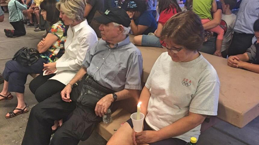 Vigilia por las víctimas de la masacre en Las Vegas