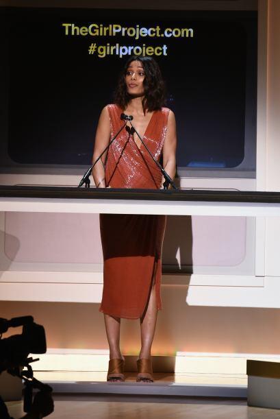 Freida Pinto no se quedó callada y dio un lindo discurso.