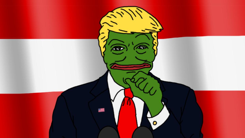 El meme de la rana Pepe caracterizada como Donald Trump