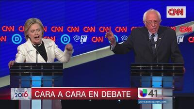 Clinton y Sanders no dan tregua en acalorado debate demócrata en Brooklyn