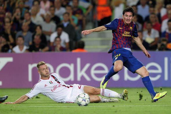 Cuando todo parecía terminar en ventaja para el equipo italiano, Messi s...