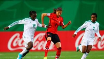 El encuentro entre México y Nigeria se disputó en el estadio Moncton.