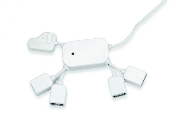 Para evitar un lío con los cables de tus 'gadgets' que se conectan a la...