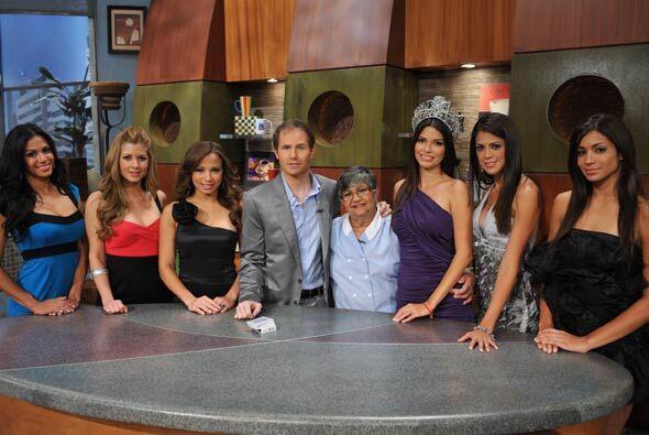 """Las cinco finalistas de """"Nuestra Belleza Latina"""" y la ganadora visitaron..."""