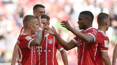 En fotos: pensando en el Madrid, Bayern goleó al Frankfurt de Marco Fabian