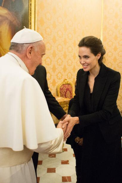 Fue el pontífice quien invitó a la actriz a realizar tan importante visi...