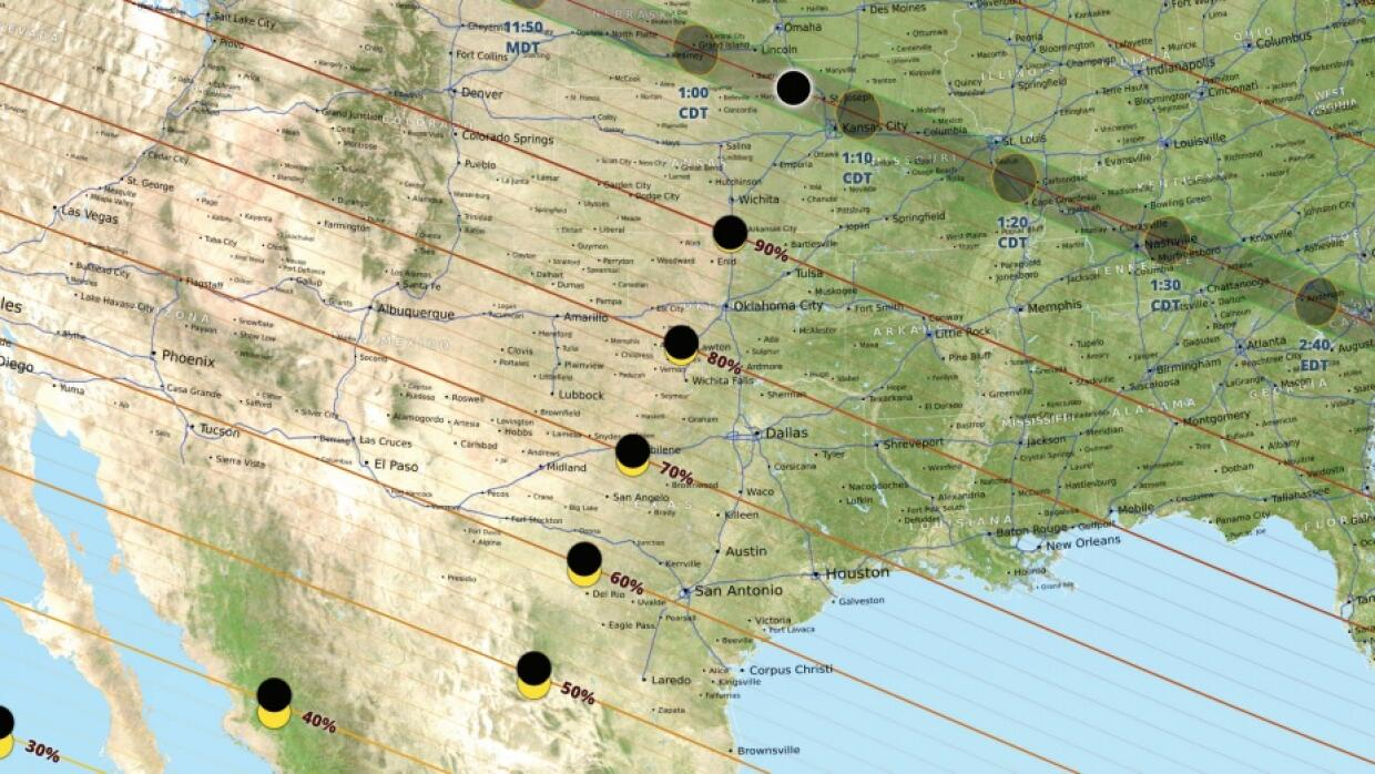 TOTAL SOLAR ECLIPSE ON AUGUST 21, 2017.