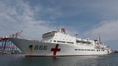 Un buque hospital chino llega a Venezuela con ayuda humanitaria en medio de la crisis