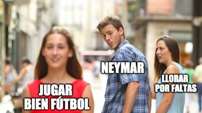 Los memes sobre la actuación de Neymar con PSG contra Estrella Roja en Champions League