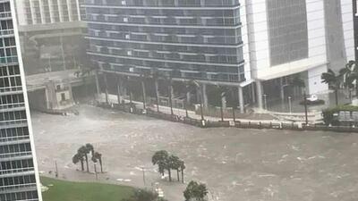 Hurricane Irma meets downtown Miami