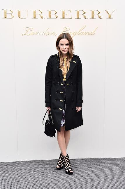 Riley Keough wearing Burberry at the Burberry Womenswear February 2016 S...